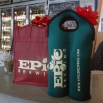 Reusable tote and bottle carrier, Epic Brewing.