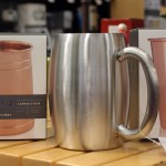 Stainless steel and copper mugs/pints, Harmons Grocery