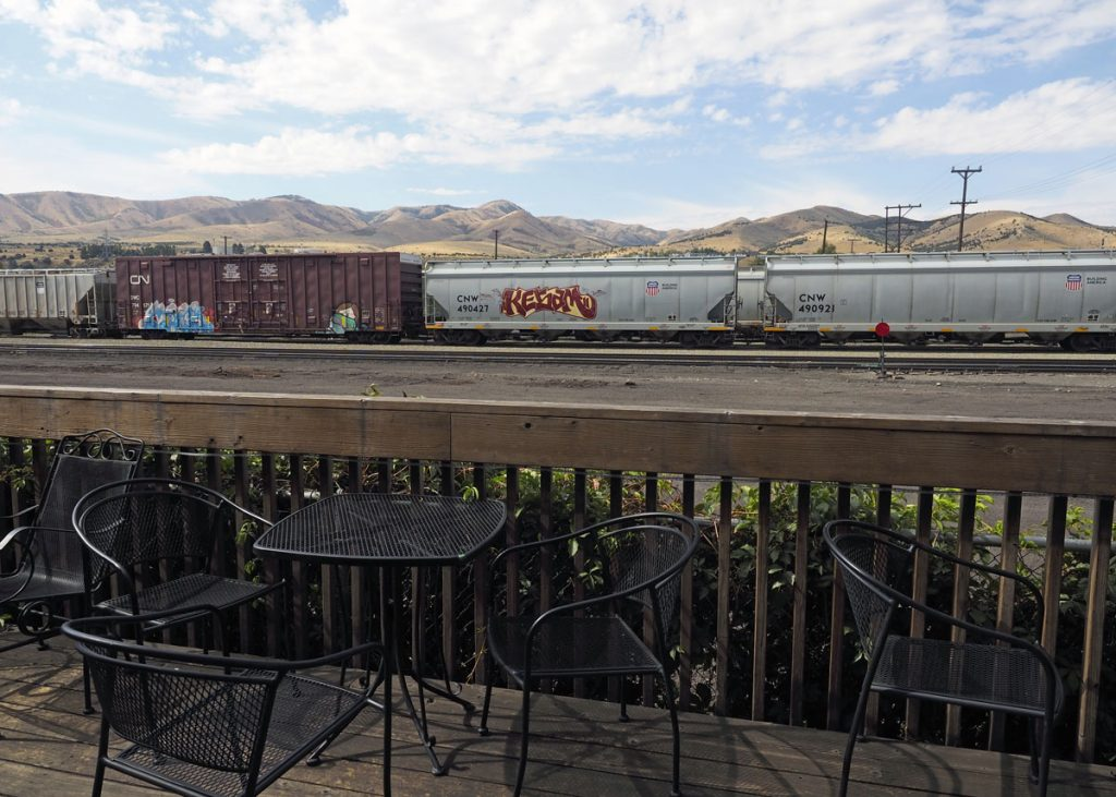 Pocatello Train Yard - Copyright Crafty Beer Girls