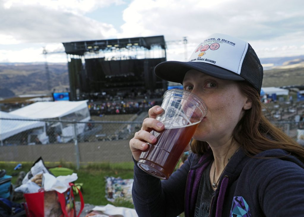 Cheers to the Gorge - Copyright Crafty Beer Girls