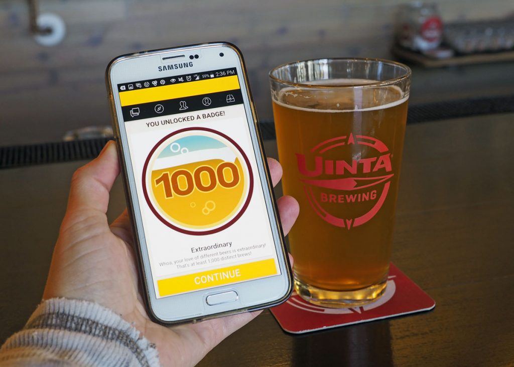 Untappd 1000 - Copyright Crafty Beer Girls
