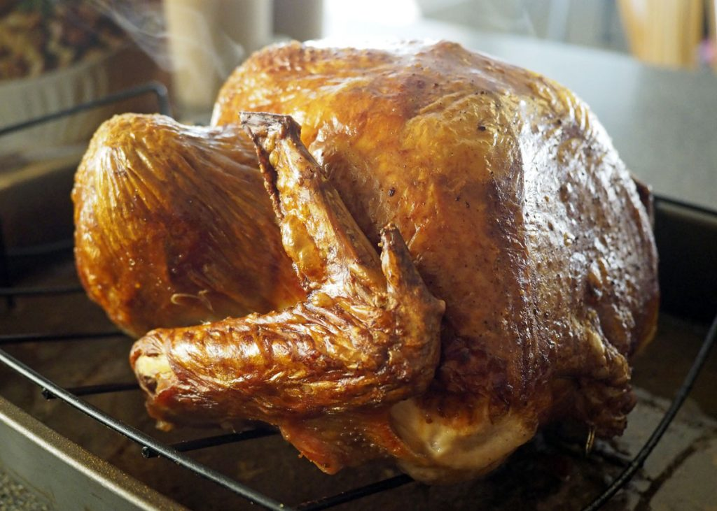Brown Ale-Brined Turkey - Copyright Crafty Beer Girls