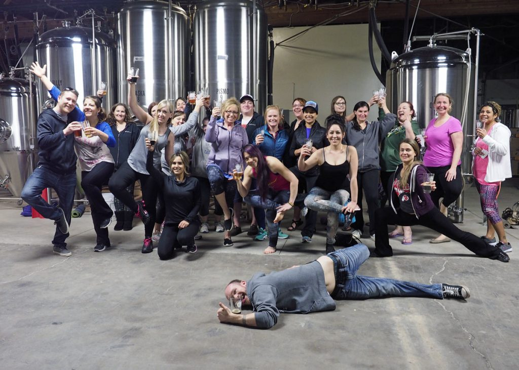 Beer Yoga Group -  Copyright Crafty Beer Girls