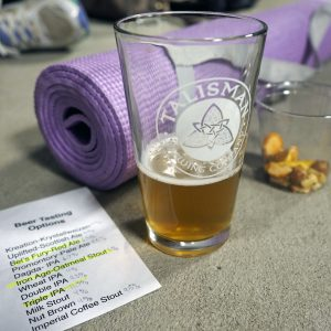 Yoga Beer Tasting - Copyright Crafty Beer Girls