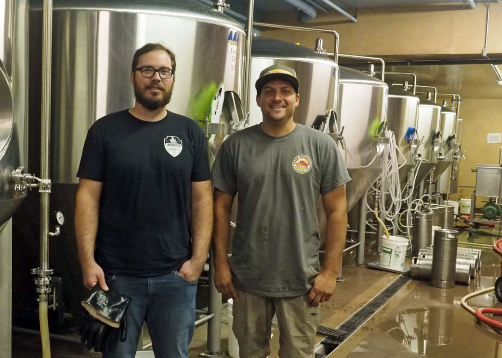 Head brewer, Jeremy Baxter and Account Manager, Frank Giammalva
