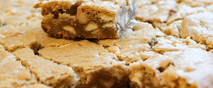 Guinness Blonde Blondies with Jameson Caramel Drizzle