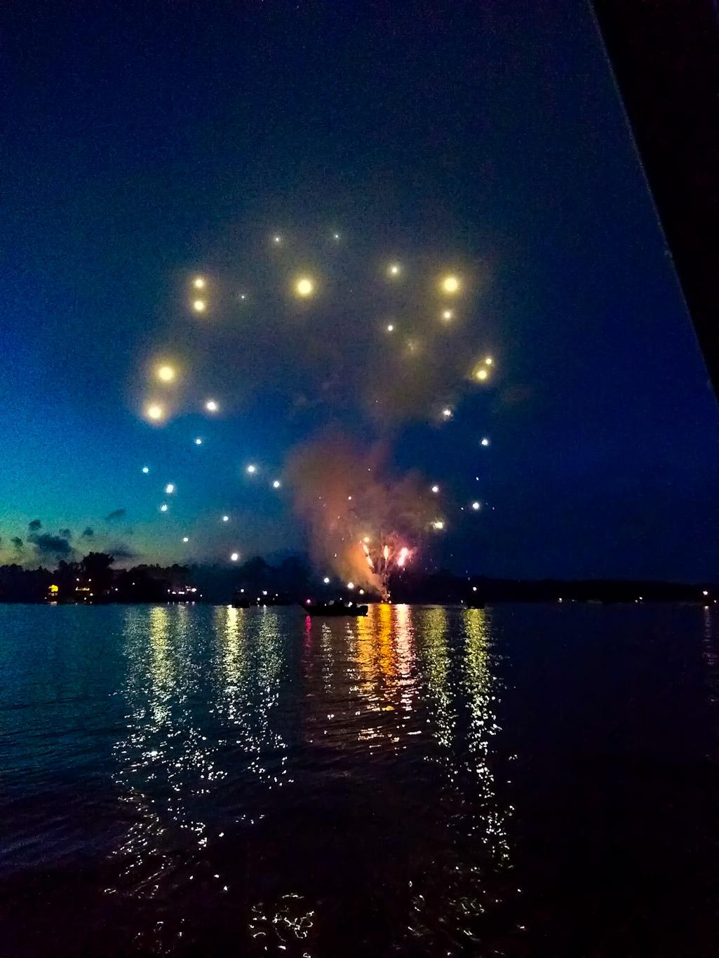4th of July fireworks on Lake Nebagamon